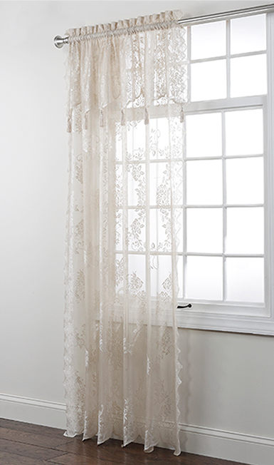 Carly Lace Panel With Attached Valance Renaissance Home