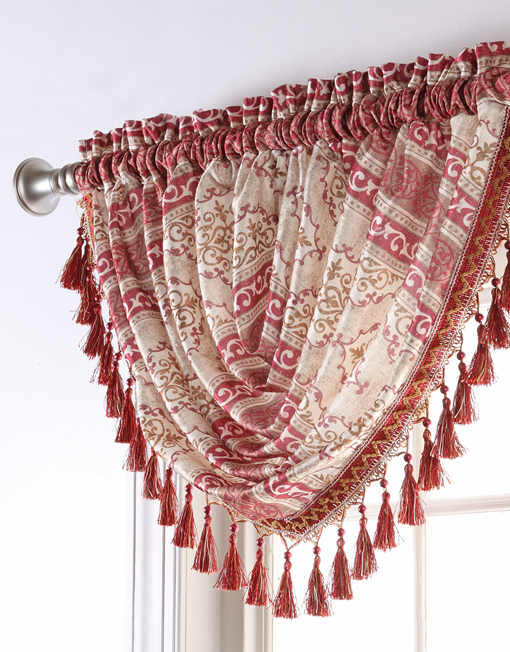 Fairview Waterfall Valance With Tassels Renaissance Home