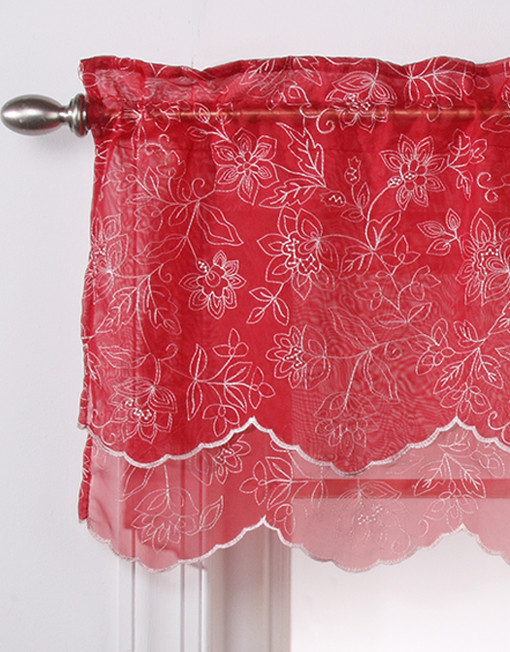 Reese Embroidered Double Layer Scalloped Valance