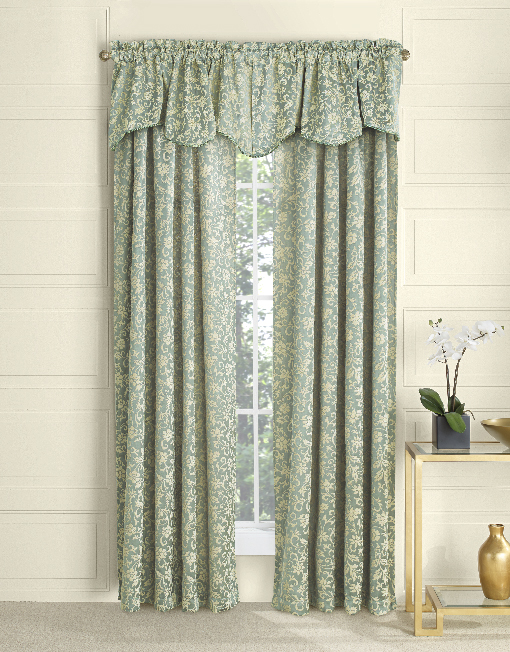 Eleanor Chenille Panel Amp Scalloped Valance With Cording
